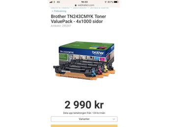 Brother TN243CMYK Toner Valuepack (4-pack)