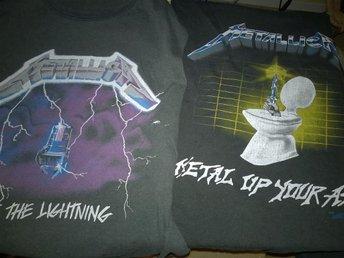Metallica 2 st T-shirts från 80-talet - Västerås - Metallica 2 st T-shirts från 80-talet - Västerås