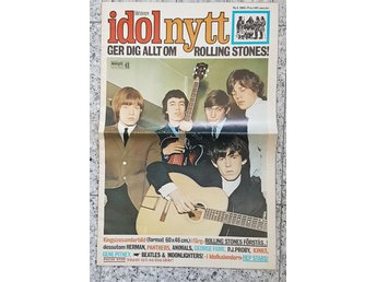 idolnytt nr.4/1965 Rolling Stones Beatles George Fame Kinks mm