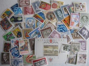 Österike 50 olika postfriska frimärken från 80 Talet, Austria - österskär - Österike 50 olika postfriska frimärken från 80 Talet, Austria - österskär