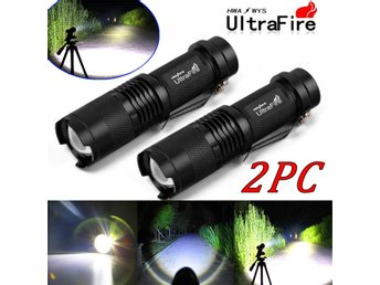 2x Ultrafire 5000Lumen CREE T6 LED Flashlight Torch Super Bright Rechargeable