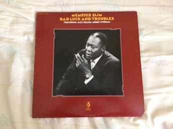 "MEMPHIS SLIM ""BAD LUCK AND TROUBLES""  BARNABY DBLLP ZG 31291 P.1972 USA PRESS"