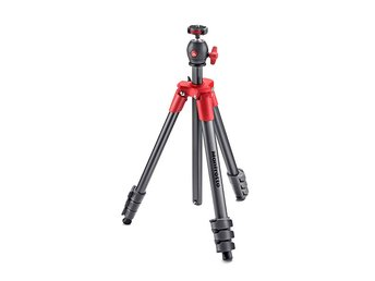 MANFROTTO Stativkit Compact MKCOMPACTLT-RD Light Röd
