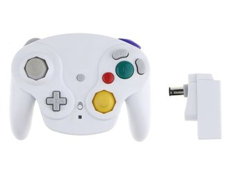 Wavebird 2.4GHZ Wireless Controller for Gamecube (White) (Ny)