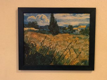 Green Wheat Field with Cypress (Van Gogh - 1889)