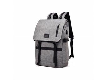 Stöldsäker ryggsäck med USB - Grå (320013280) ᐈ TemNet på Tradera 1220c7a4b2ced