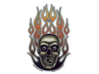 Flaming skull Sticker dekal