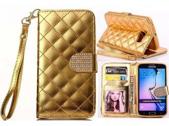 Samsung galaxy S6 Snygg Bling Plånboksfodral guld - Gävle - Samsung galaxy S6 Snygg Bling Plånboksfodral guld - Gävle