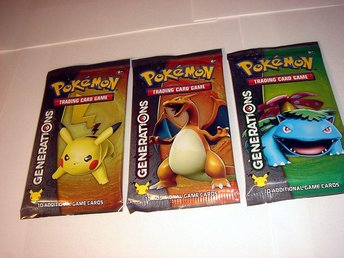PAKET 3 st POKEMON  GENERATIONS