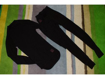 Svart underställ i mikropolyester str XS från ullmax underställsbyxa & tröja set - Björbo - Svart underställ i mikropolyester str XS från ullmax underställsbyxa & tröja set - Björbo
