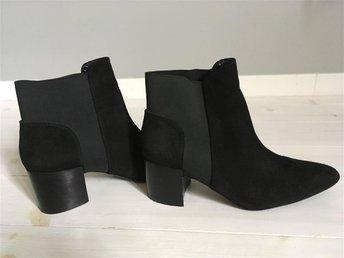 Boots från Zara i svart mocka strl 38 - Stockholm - Boots från Zara i svart mocka strl 38 - Stockholm