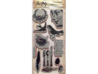 Tim Holtz NATURE, 12st Cling Stamps