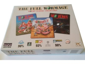 PC CD Big Box Worms The Full Wormage United 2 Pinball