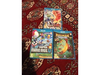 new Super Mario Bros U + Rayman Legends + Wonderful 101