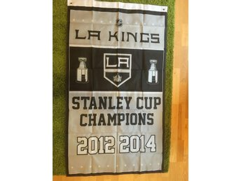 Los Angeles Kings LA flagga Kopitar Doughty Gretzky NHL