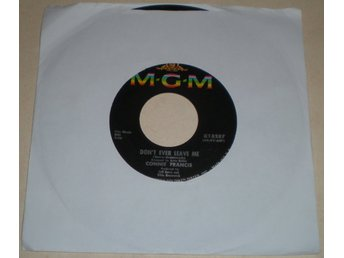 Connie Francis 45a Don´t ever leave me US 1964
