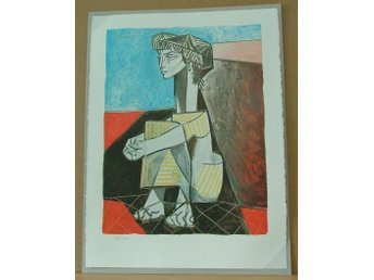 Picasso- Jacqueline with Crossed Hands - Litografi- Handnumrerad
