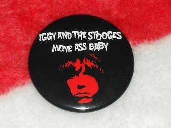 IGGY & THE STOOGES -STOR Badge / Pin / Knapp (MC5, Punk,)
