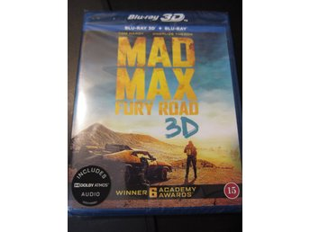 MAD MAX FURY ROAD 3D / BLURAY 3D / SVENSK TEXT / HELT NY!