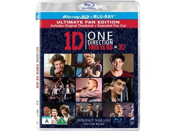 ONE DIRECTION THIS IS US. NY OCH INPLASTAD PÅ BLU-RAY 3D + BLU-RAY