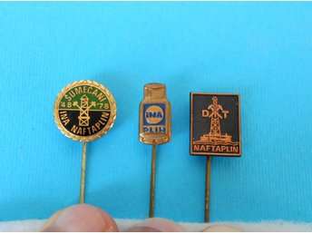 INA - Croatiian largest oil company ... lot of 3. vintage pins
