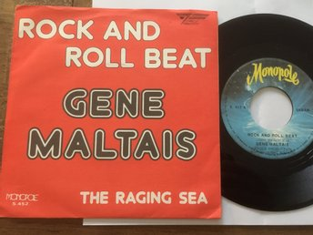 "GENE MALTAIS 7"" SINGEL : ROCK AND ROLL BEAT + THE RAGING SEA  ROCKABILLY BELGIEN"