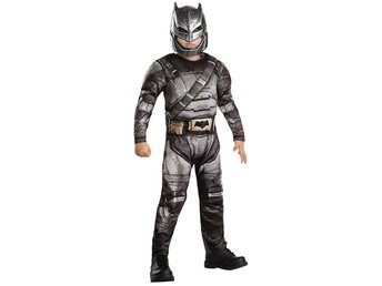 BATMAN ARMOUR 122/128 cl (7-8 år) DELUXE dräkt & mask Dawn of Justice