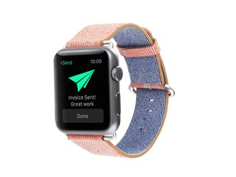 Nylon Band Apple Watch 42mm orange