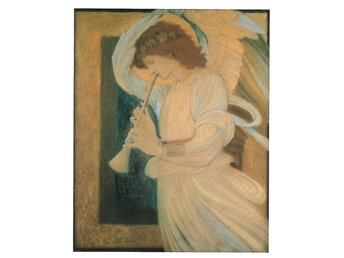 Ängel med trumpet Sir Edward Burne-Jones 1833 - 1888 England Ängel Änglar