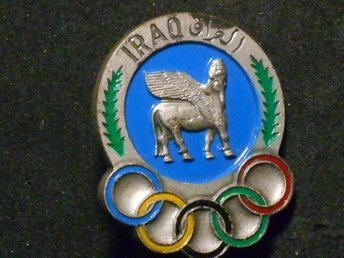 MEDALJ (OLYMPISKA SPELEN ) IRAQ  (diameter 31 mm...