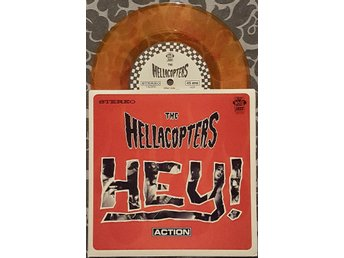 "HELLACOPTERS "" HEY / HER STRUT"" SMOKEY ORANGE ""7, NM/NM"