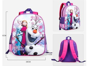 F1 Sisters frozen 3D kartoon ryggsäck skolväska  travel bag