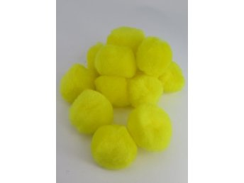 PomPoms gul 40mm 12-pack