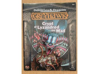 Crypt of Lyzandred the Mad. INPLASTAD! NY! Dungeons & Dragons