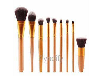 Sminkborstar Cosmetic Brush Set Guld Pack of 9 Gold handle