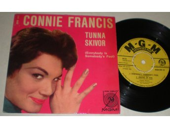 Connie Francis EP/PS Everybody´s somebody´s fool 1960