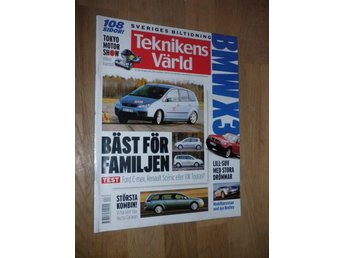 Teknikens Värld nr 24, 2003, Ford C-max VW Touran Vectra