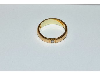 Ring m. briljant 0,05ct 18k 4,6g 17072:2 l.nr 5379