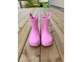 Crocs handle it boots stl c11 (=28 29, rosa, carnation, gummistövlar, stövlar)
