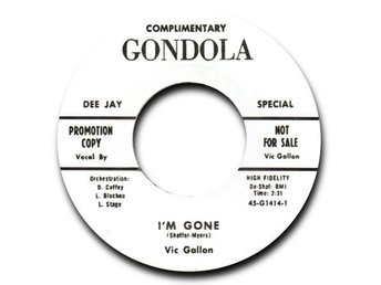 "Vic Gallon - Im Gone - 7"" NY"