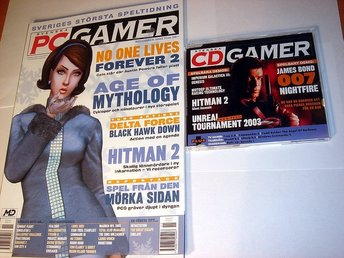 PC GAMER  Nr71 HELT NY m CD  NOV 2002  HITMAN 2 mm.