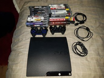 Playstation 3 Slim komplett + 24 spel