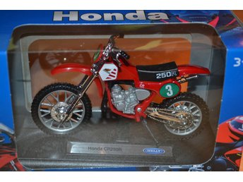 Honda CR250R Röd 1:18 Welly (Cross) Ny