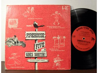 "FIREHOUSE FIVE PLUS2 GOES SOUTH! 10"" Jazz 1954"