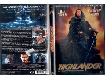 DVD-film HIGHLANDER med Sean Connery.