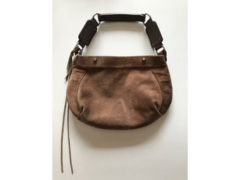 Balenciaga väska i mocka