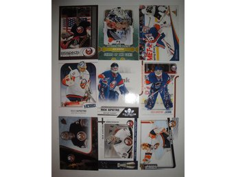 RICK DIPIETRO - Lot med 9 olika kort - New York Islanders - Quest for the Cup
