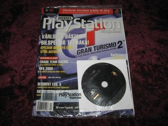 PLAYSTATION MAG Nr12 NY MED CD 12/1999 GRAN TURISMO 2 RETRO
