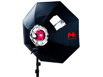 FalconEyes Softbox Octagon 90cm med adapterring för Redhead