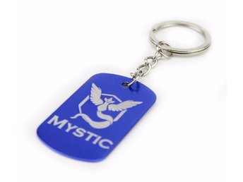 Team Mystic Dog Tag Pokemon Go anime Nyckelring